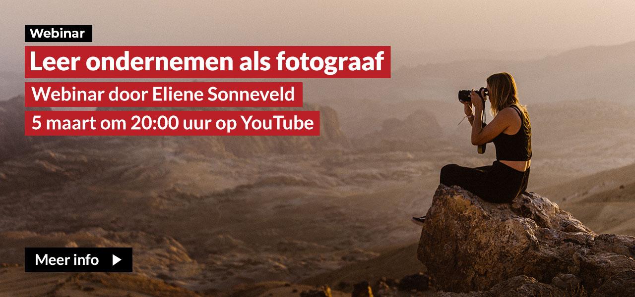 Webinar ondernemen als fotograaf door Eliene Sonneveld