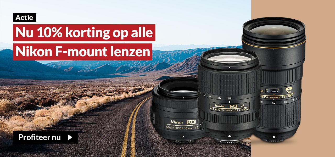 Nikon F-mount 10% korting