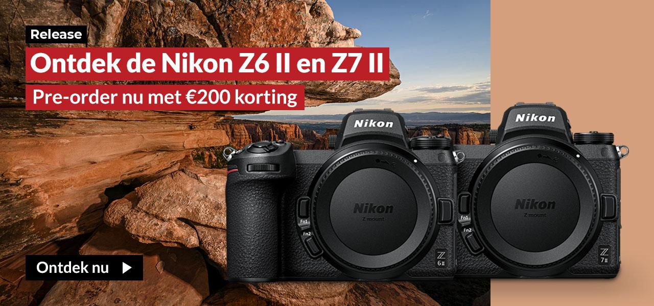 Nikon Z6 II en Z7 II pre-order actie