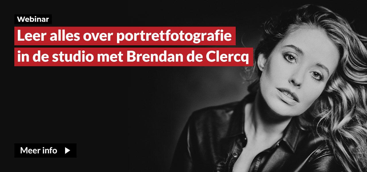 YT Webinar met Brendan de Clercq over portretfotografie