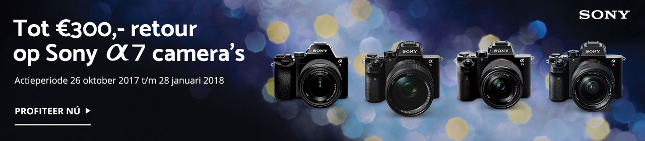 Sony Winter A7 camera Cashback 2017
