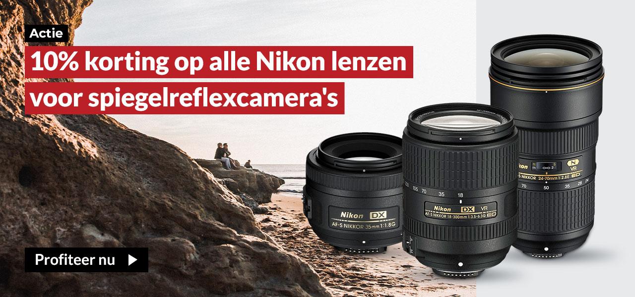 Nikon 10% korting lenzen