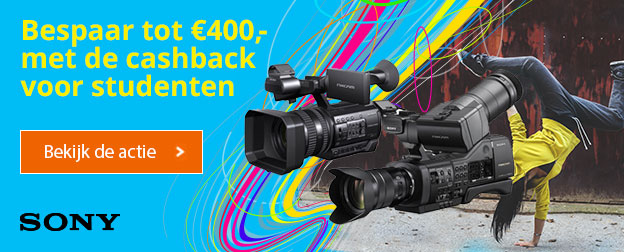Sony Pro Video cashback voor studenten