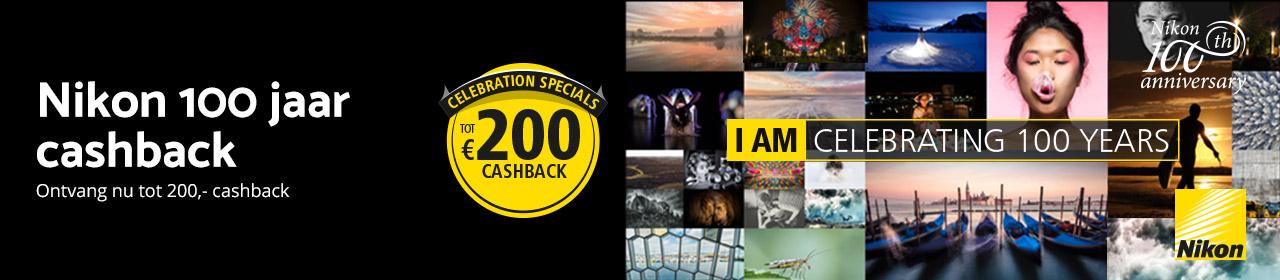 Nikon 100 jaar Cashback