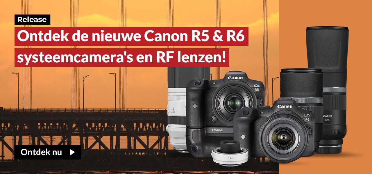 Ontdek de nieuwe Canon R5 & R6 systeemcamera's en RF le