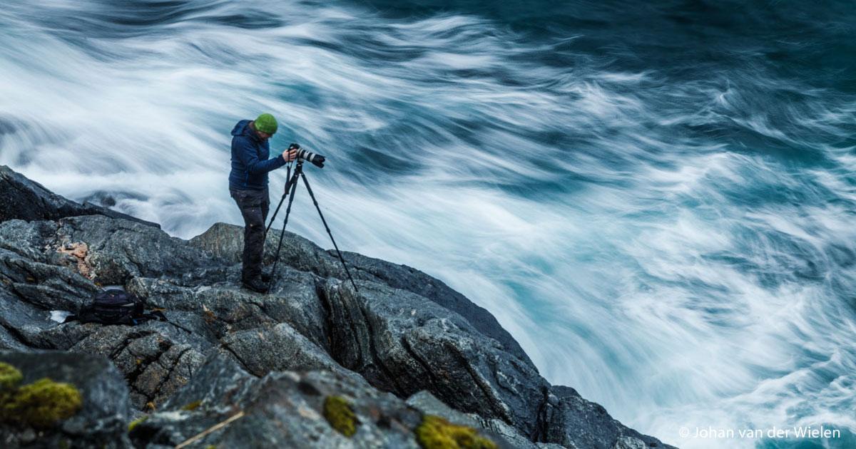 Een fotograaf zonder statief