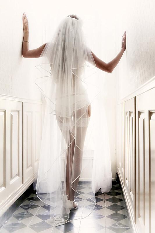 De bruid in lingerie