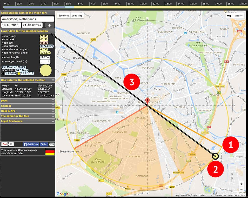 Het maken en plannen van maanfoto's - 2