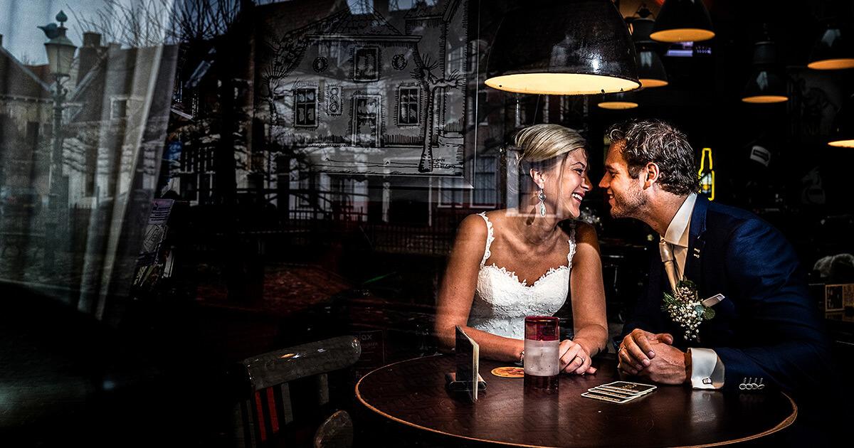 Lichtgebruik en flitsers tijdens een bruidsreportage