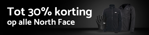 Tot 30% korting op The North Face