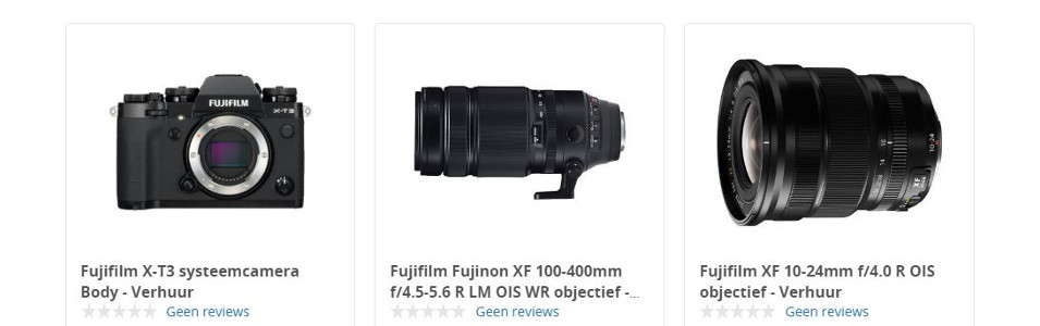 Fujifilm verhuur