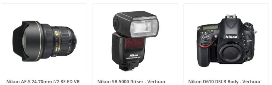 Nikon verhuur