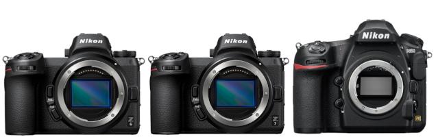 Nikon D850 vs Nikon Z6 vs Nikon Z7
