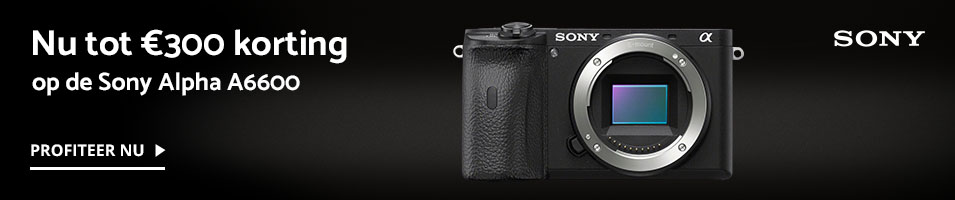 Sony A6600 trade-in + kassakorting