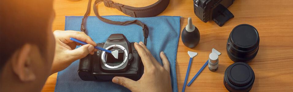 Sensor camera schoonmaken