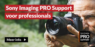 Sony Imaging Pro Support voor Professionals