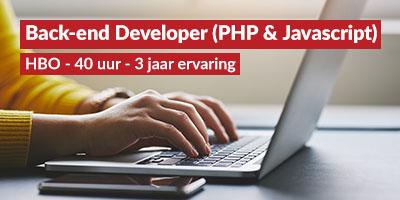 Back-end Developer (PHP & Javascript)