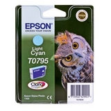Epson Inktpatroon T0795 - Light Cyan/Licht Cyaan (R1400) (origineel) - thumbnail 1