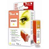 Peach Inktpatroon CLI-521Y - Yellow/Geel (met chip) - thumbnail 1
