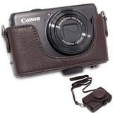 ONE OC-S90R Leathercase voor Canon PowerShot S90, S95 - thumbnail 1