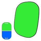 Savage 2-zijdige Opvouwbare Achtergrond Kit 152 x 183cm (Chroma Groen/Chroma Blauw) - thumbnail 1