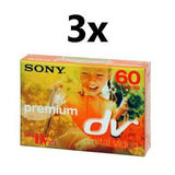 Sony Premium Mini DV tape 60 minuten (3 stuks) - thumbnail 1