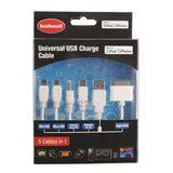 Hähnel Universele USB laadkabel - 5 kabels in 1 - thumbnail 1