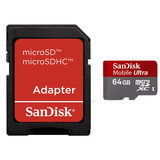 Sandisk Micro SDXC Ultra 64GB Class 10 + SD Adapter + Media Manager