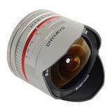 Samyang 8mm f/2.8 Fisheye UMC Sony NEX objectief Zilver - thumbnail 1