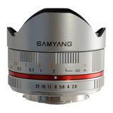Samyang 8mm f/2.8 Fisheye UMC Sony NEX objectief Zilver - thumbnail 3