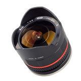 Samyang 8mm f/2.8 Fisheye UMC Samsung NX objectief Zwart - thumbnail 1
