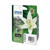 Epson Inktpatroon T0599 - Light Light Black/Licht Licht Zwart (R2400) (origineel) - thumbnail 1