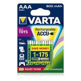 Varta Ready2Use oplaadbare AAA-batterijen - 4 stuks (800mAh)