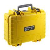 B&W Outdoor Case Type 500 - Geel met Plukschuim - thumbnail 1