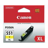 Canon Inktpatroon CLI-551XL - Yellow - thumbnail 1