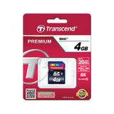 Transcend SDHC Premium 4GB 20MB/s class 10 geheugenkaart - thumbnail 2