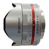 Samyang 8mm f/2.8 Fisheye UMC Sony NEX objectief Zilver - thumbnail 5