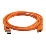 Tether Tools TetherPro USB 3.0 Male to Micro-B 180cm Oranje - thumbnail 1