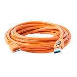 Tether Tools TetherPro USB 3.0 Male to Micro-B 4.6m Oranje - thumbnail 1