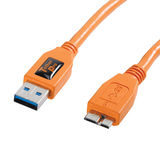 Tether Tools TetherPro USB 3.0 Male to Micro-B 4.6m Oranje - thumbnail 2