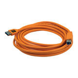 Tether Tools TetherPro USB 3.0 Male A to Male B, 4.6m Oranje - thumbnail 1