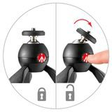 Manfrotto PIXI Mini Tripod Red - thumbnail 2