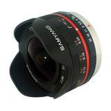 Samyang 7.5mm f/3.5 Fisheye UMC Micro 4/3 objectief Zwart - thumbnail 1