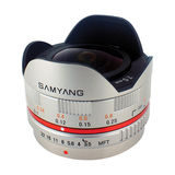 Samyang 7.5mm f/3.5 Fisheye UMC Micro 4/3 objectief Zilver - thumbnail 2