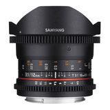 Samyang 12mm T3.1 ED AS NCS VDSLR Fisheye Sony E objectief - thumbnail 3