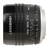 Lensbaby Velvet 56 Sony objectief Zwart - thumbnail 1