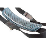 4V Design Lusso Large Neck Strap Tuscany Leather Brown/Cyan - thumbnail 3