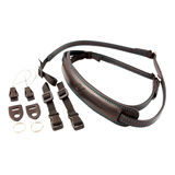 4V Design Lusso Slim Neck Strap Tuscany Leather Brown/Brown - thumbnail 2