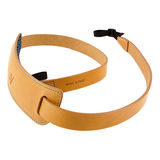 4V Design Classic Large Neck Strap Tuscany Leather Natural/Cyan - thumbnail 1
