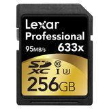 Lexar SDXC Pro 633x 256GB 95MB/sec UHS-I U3 SD-kaart - thumbnail 1